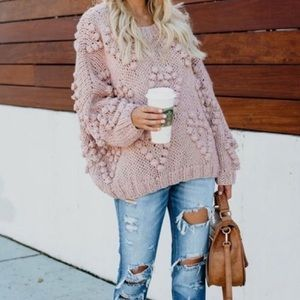 VICI Follow Your Heart Knit Sweater - Blush